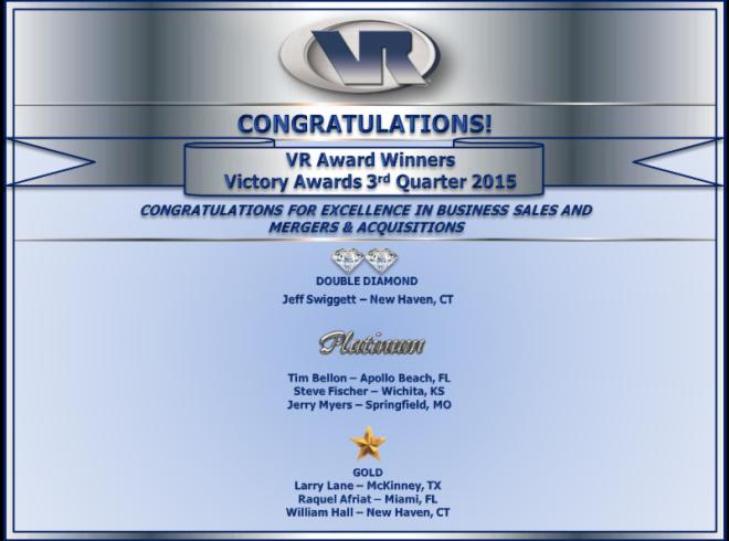 VR Victory Award Q3 2015